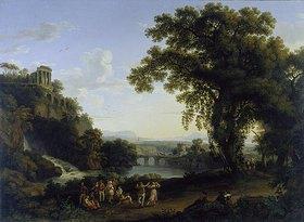 Jacob Philipp Hackert: Ideale Landschaft mit Motiven aus der Gegend von Tivoli
