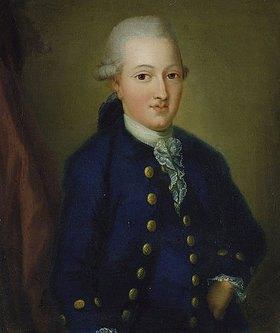 Unbekannter Künstler: Portrait von Goethe als 20-jähriger