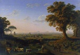 Jacob Philipp Hackert: Blick auf Rom von der Via Appia