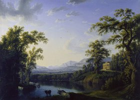 Jacob Philipp Hackert: Ideale Flusslandschaft