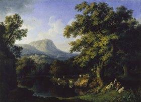 Jacob Philipp Hackert: Landschaft mit Motiven aus dem Aniotal und Ariccia