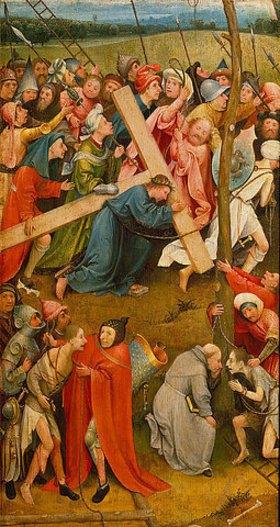 Hieronymus Bosch: Die Kreuztragung Christi. Altarflügel