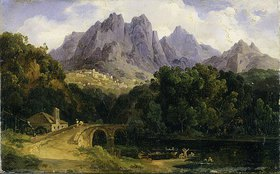 Friedrich Preller d.Ä.: Italienische Landschaft mit Fluß