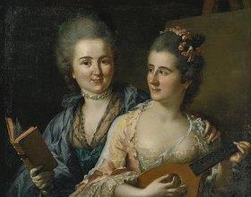 Johann Heinrich Tischbein: Doppelporträt der Schwestern Friederike Elisabeth und Wilhelmine Oeser