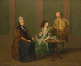 Peter Eduard Ströhling: Gruppenporträt: Georg Michael, Sophie und Maximiliane La Roche