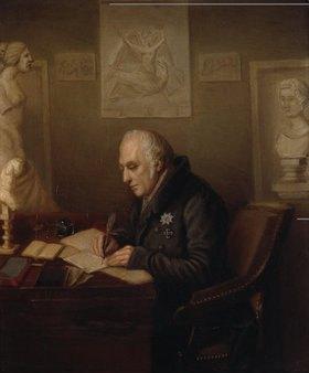 Unbekannter Künstler: Wilhelm von Humboldt (1767-1853) in seinem Arbeitszimmer in Schloss Tegel