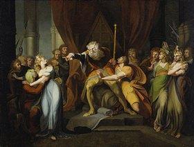 Johann Heinrich Füssli: König Lear verstößt seine Tochter Cordelia