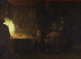 Aert de Gelder: Alchemisten-Werkstatt (Dr. Faust)