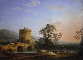 Jacob Philipp Hackert: Grabmal der Plautier und Ponte Lucano