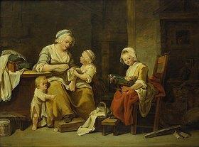 Georg Melchior Kraus: Erziehung der Mädchen  (Die Nähstunde)