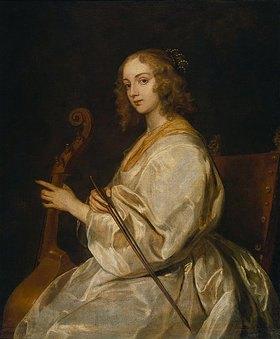 Anthonis van Dyck: Die Gambenspielerin