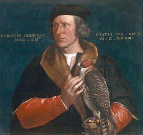 Hans Holbein d.J.: Bildnis Robert Cheseman mit Jagdfalken