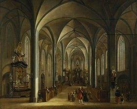 Christian Georg Schütz d.Ä.: Das Innere der Liebfrauenkirche in Frankfurt am Main