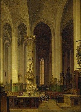 Johann Carl Schulz: Inneres der Danziger Marienkirche