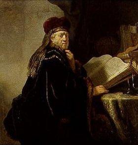 Rembrandt van Rijn: Der Gelehrte (oder: Alter Rabbi)