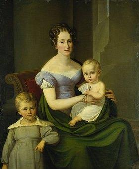 Carl Wilhelm Tischbein: Caroline du Fay mit ihren zwei ältesten Kindern, Bildnis