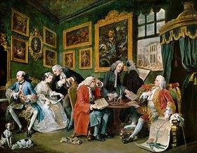 William Hogarth: Der Ehevertrag. Aus der Serie Hochzeit a la mode