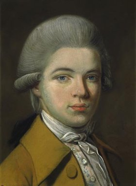 Johann Heinrich Schmidt: Alexander von Humboldt (Jugendbildnis). 1784. Detail