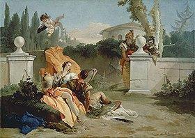 Giovanni Battista Tiepolo: Rinaldo und Armida werden von Ubaldo und Carlo überrascht