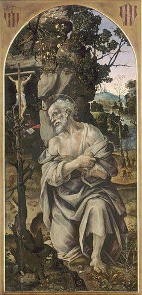 Filippino Lippi: Der heilige Hieronymus als Eremit