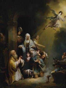 Johann Georg Trautmann: Der Engel, vor der Familie Tobias verschwindend