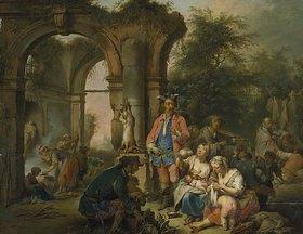Johann Conrad Seekatz: Räuberlager in klassischer Ruine
