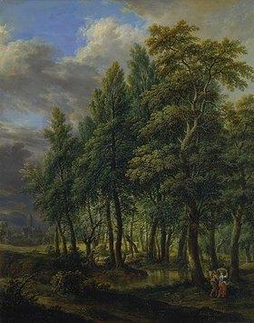 Christian Georg d. J. Schütz: Waldlandschaft: Gegend um den Stralenberger Hof bei Frankfurt am Main