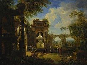 Christian Georg d. J. Schütz: Phantasielandschaft mit Ruinen