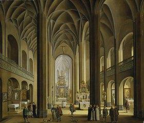 Johann Ludwig Morgenstern: Der Innenraum von St. Leonhard in Frankfurt am Main