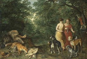 Jan Brueghel d.Ä.: Dianas Nymphen nach der Jagd