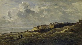 Charles-François Daubigny: Normannische Küstenlandschaft (Villerville-sur-Mer)