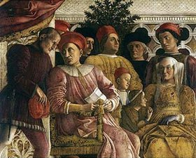 Andrea Mantegna: Marchese Ludovico Gonzaga III von Mantua, seine Frau Barbara von Brandenburg und ihre Kinder