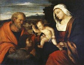 Hans von Marées: Madonna mit dem heiligen Petrus und einem Stifter (nach Palma Vecchio)