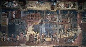 Ambrogio Lorenzetti: Das Leben in der Stadt. Aus: Die Folgen der Guten Regierung