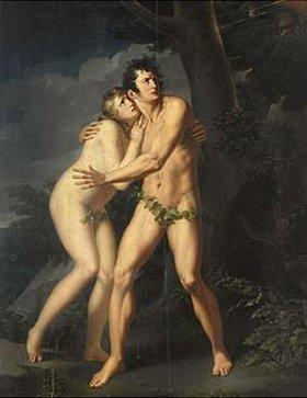 Johann Peter von Langer: Adam und Eva. Vor