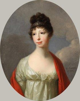 Johann Fr. August Tischbein: Maria Pawlowna Großherzogin von Sachsen-Weimar-Eisenach, geb. Großfürstin von Rußland
