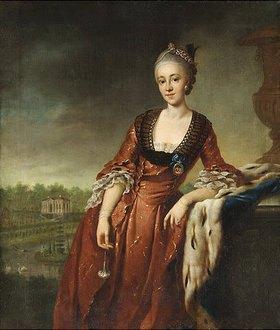 Johann Georg Ziesenis: Marie Barbara Eleonore Gräfin zu Schaumburg-Lippe, geb. Gräfin zu Lippe Biesterfeld. Wohl vor