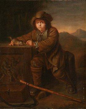 Unbekannter Künstler: Savoyardenknabe, mit einem Murmeltier spielend. 18. Jh