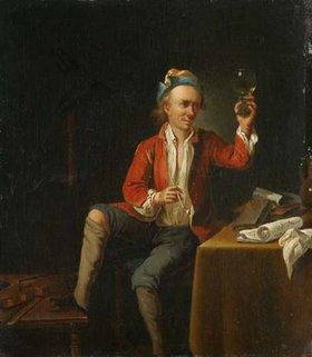 Justus Juncker: Ein Musiker beim Trinken
