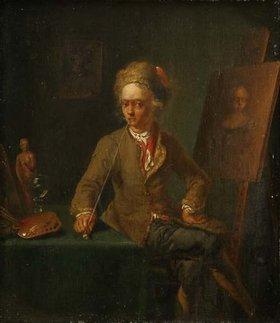 Justus Juncker: Ein Maler beim Rauchen