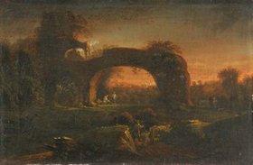 Johann Friedrich Alexander Thiele: Landschaft mit Felsbogen