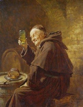 Eduard Grützner: Mönch bei der Weinprobe