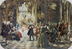 Adolph von Menzel: Flötenkonzert Friedrich des Großen
