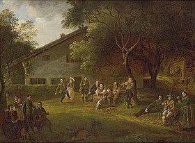 Johann Georg von Dillis: Die Familie Dillis vor dem Forsthaus in Grüngiebing