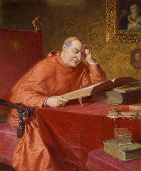 Eduard Grützner: Lesender Kardinal