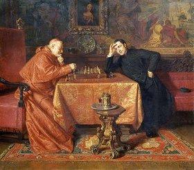 Eduard Grützner: Beim Schachspiel