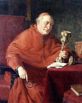 Eduard Grützner: Ein Kardinal betrachtet einen Pokal