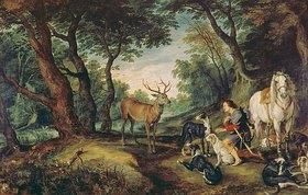 Jan Brueghel d.Ä.: Der heilige Hubertus