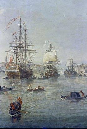 Gaspar Adriaens van Wittel: Die Hafeneinfahrt von Venedig