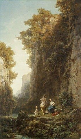 Carl Spitzweg: Landschaft mit Badenden
